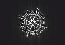Sticker car motorcycle helmet vinyl compass nautical boat sailing anchor r3