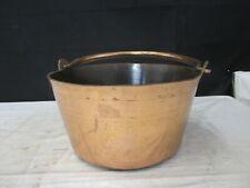 Antique Vintage Copper Cauldron Bucket Pail Pot w/Handle - Large