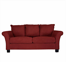 Milan Sofa in Red Microfiber by  Handy Living