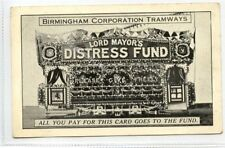 (Ld3213-465) BIRMINGHAM Corp Tramways, Distress Fund, Used G-VG Thin Stick