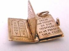 Vintage  HOLY BIBLE OPENS WITH LORD's PRAYER ENGRAVED ON FOUR  PAGES 9ct gold