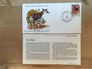 CONGO 1978 FDC WWF OKAPI GIRAFFE
