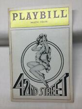 42nd Street Playbill Majestic Theatre February 1984 James Brennan, Karen Ziembra