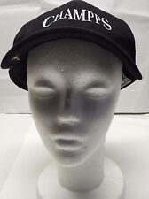 Champps Black Baseball Cap Men's Hat Zkapz MVP pin asjutable One Size