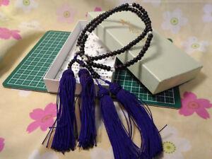 Japanese 2-Crystal Rosary Juzu Nenju with Tassel Buddhist J032 Jodo Shinshu