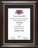 Graduation Degree Certificate Display Frame - Traditional Style