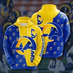 Los Angeles Rams Football Fans Hoodies Casual Sweatshirts Pullover Hooded Jacket