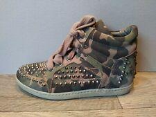 Ash Bea Camo wedge sneaker spiked by ASN, Women's size US 6.5 / EU 37