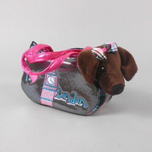 Aurora Fancy Pals Pet Carrier Roxie the Doxie in London Plush Animal Toy NWT