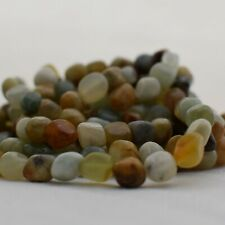 """15"""" Strand Natural Old Jade Pebble Nugget Beads - 7mm - 10mm"""