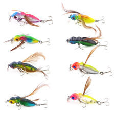 8Pcs Cicada Insect Fishing Lures Bait Tackle Bass Crankbait Minnow Hooks  3.4g