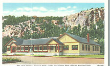 VIntage Postcard-East Glacier, General Store, coffee shop, Glacier National Park