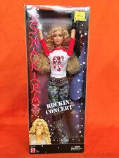 "Shakira Rockin' Concert Mattel Barbie 11.5"" Fashion Doll Red/White Shirt Barbie"
