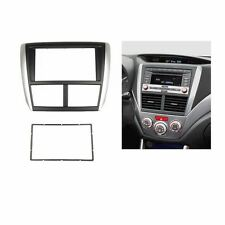Car 2 Din Fascia Stereo For SUBARU Forester Impreza Dash Mount Trim Kit Frame