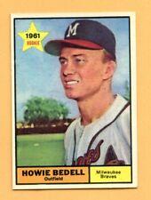 1961 Topps # 353 Howie Bedell  --  Braves   (VG-EX)