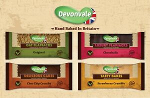 DEVONVALE | Delicious Natural Hand Made Flapjacks 95g (24 Bars) | FREE DELIVERY