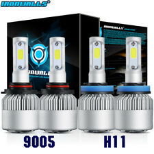 4x H11 9005 LED 2600W 390000LM Combo Headlight CREE Kit High Low Beam Bulb 6000K