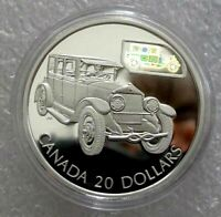 2002 CANADA SILVER 20 DOLLARS TRANSPORTATION CAR THE GRAY-DORT PROOF