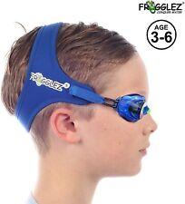Frogglez Schwimmbrille mit Riemen Kinder kein Auslaufen Anti Beschlag UV-Schutz