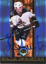 BRAD ISBISTER COYOTES AUTOGRAPH AUTO 98-99 PACIFIC DYNAGON ICE #142 *30294