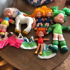 Vintage Rainbow Bright 5 Dolls And Starlite 1980s