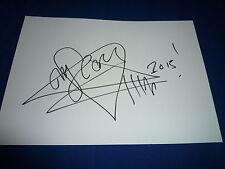 Him Ville Valo signed autógrafo + dibujo 20x30 cm carta mapa en persona