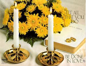 "Wedding Bulletin White, Yellow, Bible, Flowers 8 1/2"" x 11""  PACK OF 50"