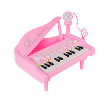 Pink Piano Toy Keyboard for Girl Birthday Gift Battery Operated 24 Keys