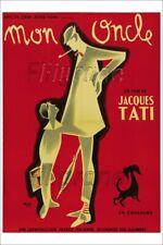 MON ONCLE FILM TATI Rmgg-POSTER/REPRO 40x60cm d'1 AFFICHE VINTAGE/RéTRO