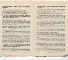 1930 Brochure Rules & Regulations CA State Park System