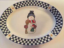 HOME Lifestyles ~Snowman~ Platter, NEW