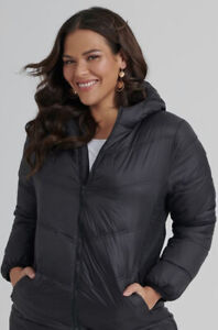 TS14+ Taking Shape Puffer Coat Jacket L 20 (fit 18-20) RRP $229.95