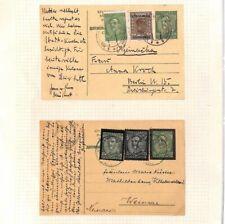 YUGOSLAVIA Stationery Cards 1934 King Alexander MEMORIAL Border MOURNING Ap279
