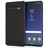 Samsung Galaxy S10 Plus Case, Silicone Ultra Soft Gel Phone Cover - Matte Black