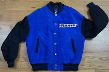 Rare Vintage CARL BANKS St Louis Rams Leather Varsity Spell Out Jacket NFL 90s L