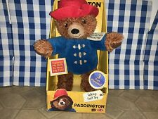 "Paddington Bear Plush 13"" TALKING Soft Toy Brown Rare Retired Hard To Find New!"