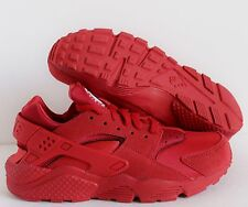 NIKE AIR HUARACHE ID SUEDE RED OCTOBER WOMEN SZ 12//MEN SZ 10.5 [777331-997]
