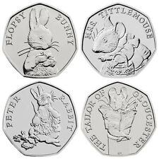 Beatrix Potter 2018 UK Fifty 50p Coins Tittlemouse Flopsy Tailor Peter Rabbit
