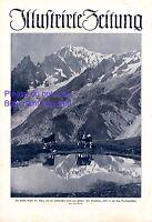Montblanc & Brenvagletscher XL 1924 Fotoabbildung auf Titelseite Bergsee Kühe