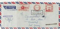 India 1980 State Bank of India Regd Airmail Meter Mail Stamp Cover Ref 29983