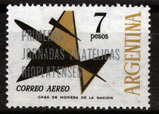 Argentinien 859 **, 1.Philatelistentag am Rio de la Plata, Düsenflugzeug