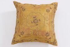 Pillow Cover Golden Hand Work Silk Sofa Waist Cushion 42X42 CM Car Cushion Cover