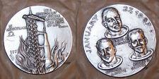 1970's Italy Vintage NASA Apollo 1 Disaster/Grissom/White/Chaffee Affer Medal