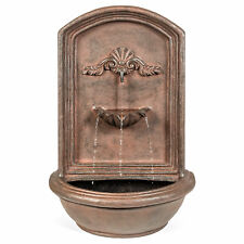 Best Choice Products Mounted Wall Water Fountain - Bronze