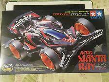 Tamiya 1/32 Mini 4WD Aero Manta Ray Negro SP ar chasis modelo 95419