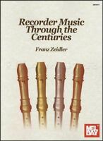 Recorder Music Through the Centuries Sheet Music Book Franz Zeidler Classical