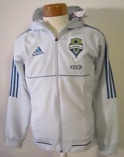 NWT Adidas Seattle Sounders FC Mens Travel Jacket S Light Grey MSRP$85