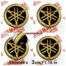 1.8 in (4.5cm)x 1 piece GOLD Genuine YAMAHA resin Gel 3D sticker logo tank decal