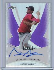 ARCHIE BRADLEY 2013 Leaf Metal Draft Prismatic Purple Autograph #20/25   (B5130)