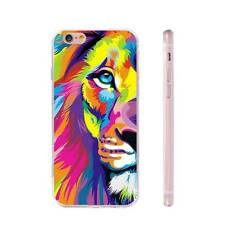 Colorful Lion Painting Fashion TPU Phone Case Cover for iPhone Samsung Huawei